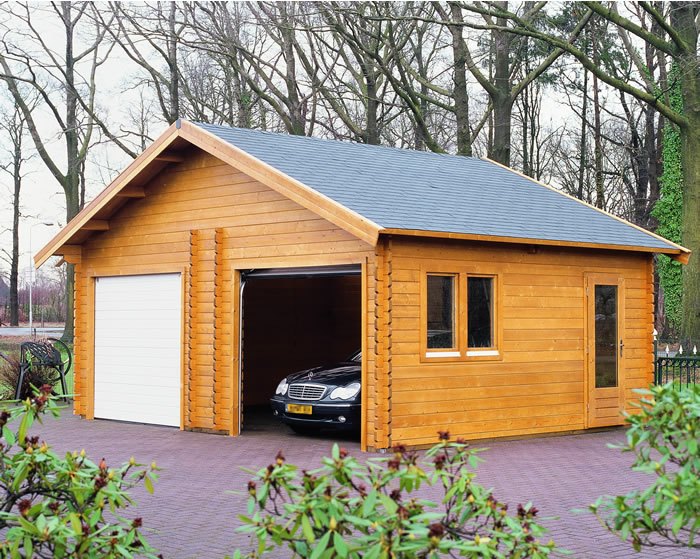 Log Cabin Garage Kits Prefab Garage Kits Wood Log Garages