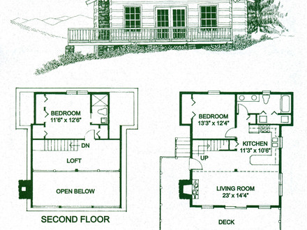 Log cabin flooring ideas log cabin homes floor plans for Log cabin ranch home plans