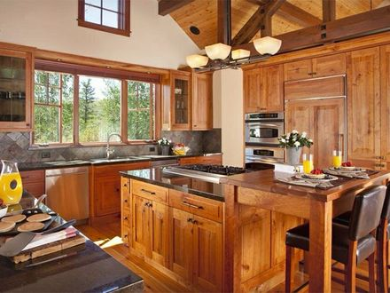 Log Home Kitchen Log Home Fireplaces