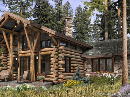 Luxury Log Cabin Home Plans Luxury Home Log Cabin Kitchen