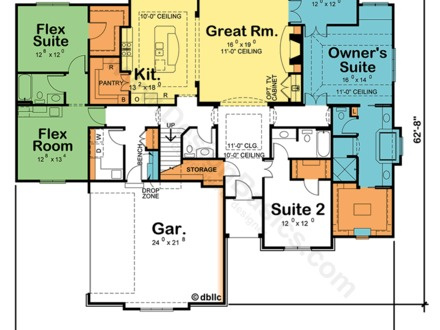 Manufactured Home 2 Master Suite Dual Master Suite House Plans