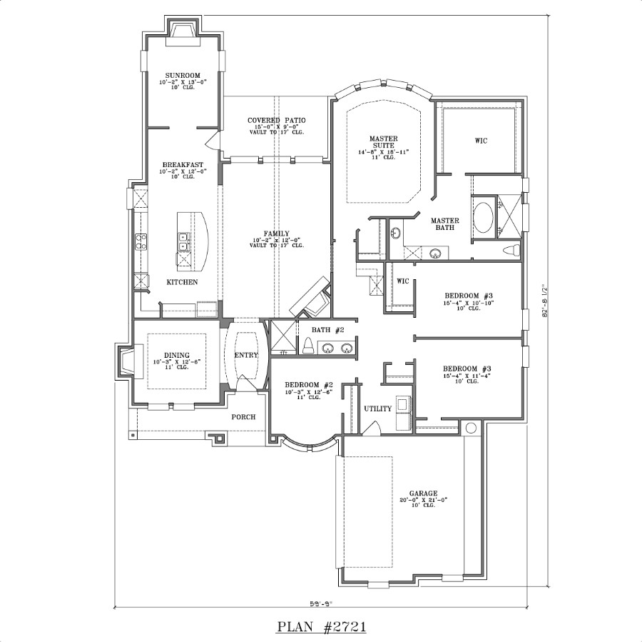 Master Bedroom 4 Bedroom Single Story House Plans House