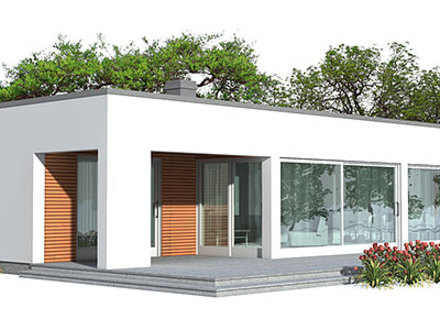 Mexican Style Courtyard House Plans Economical Contemporary House Plan
