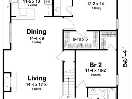 Narrow Houses Floor Plans Narrow Lot Floor Plans