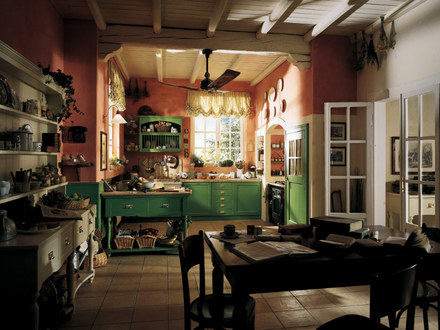 Old Country Cottage Kitchen Design Cottage Kitchen Colors