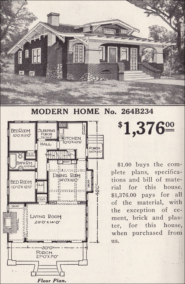 Old sears house plans vintage sears house plans old for Vintage craftsman house plans