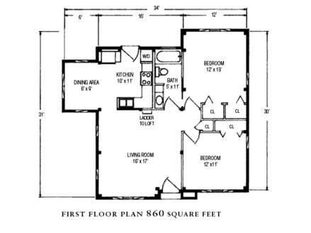 Classic bungalow floor plans for Classic cottage house plans