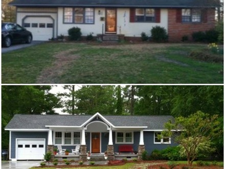Ranch Style Home Before and After Blueprints for Ranch Style Homes
