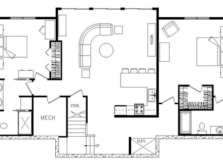 Rectangular Ranch House Floor Plans Painted Floors