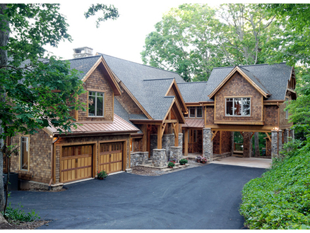 Rustic Lake Home House Plans Exterior Rustic Lake House
