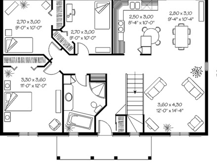 Simple Ranch House Plans with Basement Simple Ranch House Floor Plans