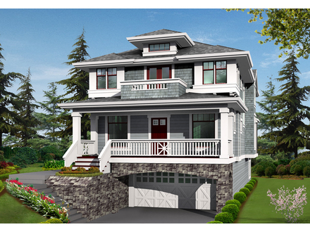 Simple Two-Story House Plans Two Story House Plans with Balconies