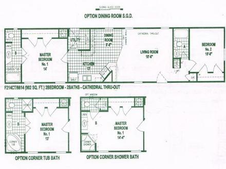 Single Wide Mobile Home Floor Plans Used Single Wide Mobile Homes