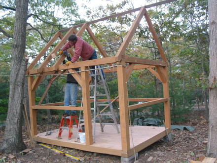 Small Cabin Plans Small Timber Frame Cabin Plans