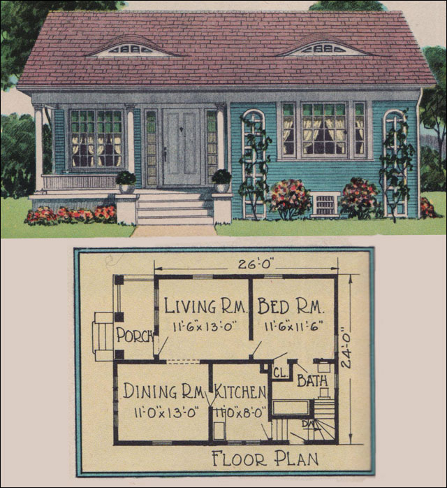 Small cottage house plans colonial small house plans for Colonial homes magazine house plans