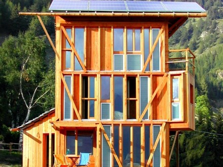 Small house with tower small footprint house floor plans for Small footprint cabin
