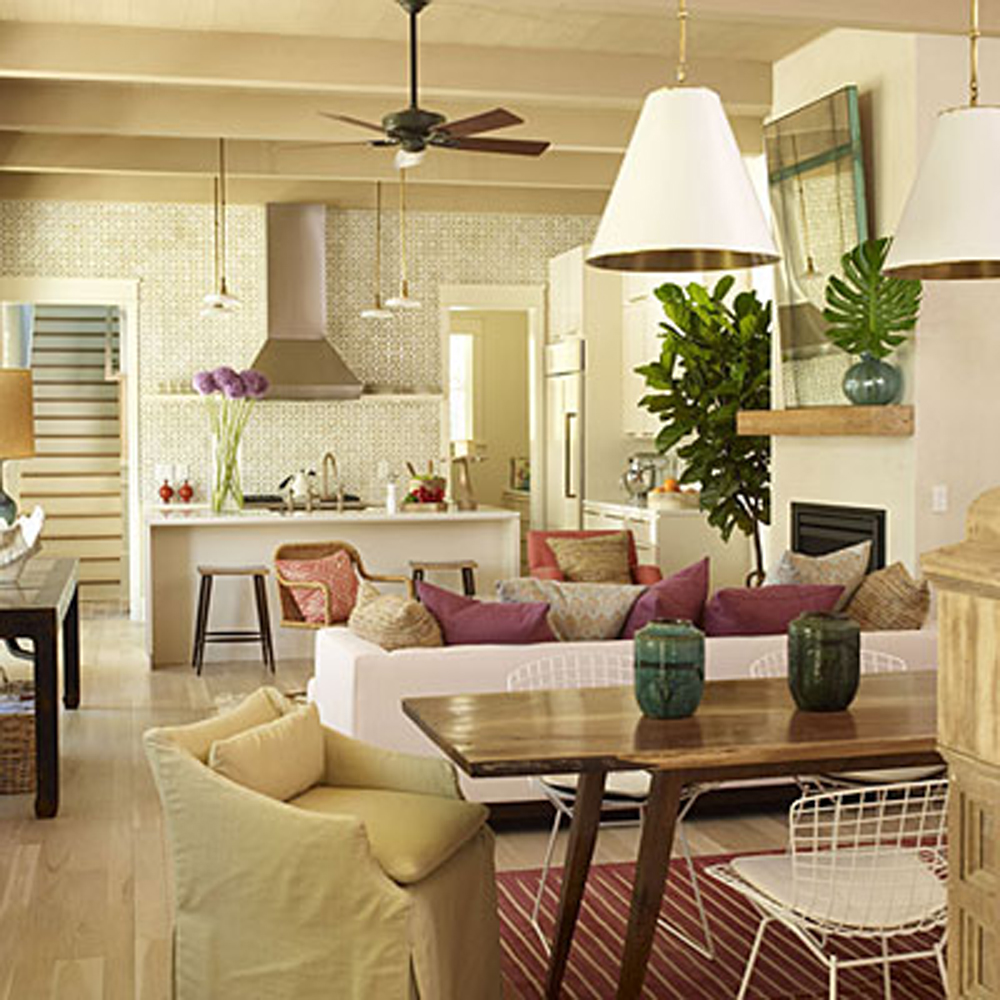 Small Open Kitchen Living Room Open Concept Kitchen Floor: Small Kitchen And Living Room Combined Small Living Room