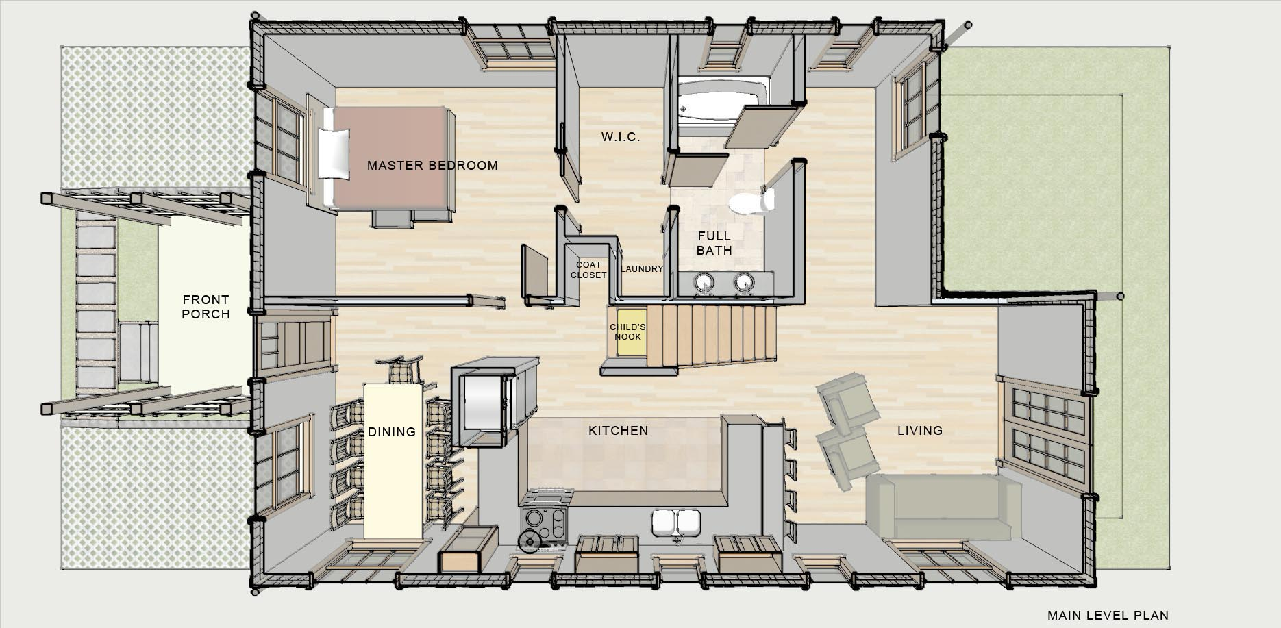 Small lakeside cottage house plans small lakeside cottage for Lakeside home plans