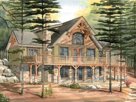 Small timber frame cabin plans small timber frame homes for Small timber frame home plans