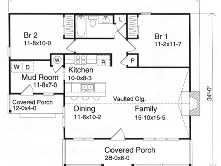 Small Two Bedroom House Plans Small House Plans Under 1000 Sq FT