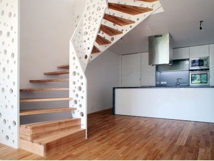 The Staircase Design Small House Interiors Small Kitchen Layout Design
