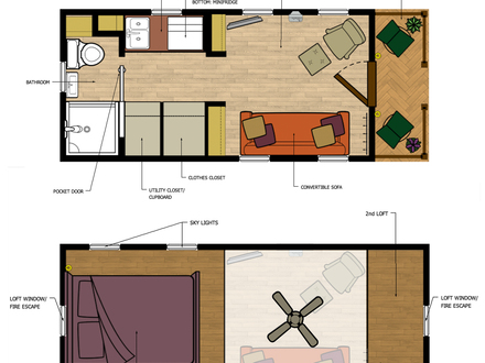 Tiny Houses with No Loft Tiny Loft House Floor Plans