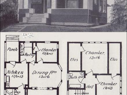 Vintage Craftsman with Tapered Bungalow Columns Vintage Craftsman Bungalow House Plans