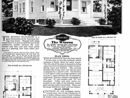 1900 American Foursquare House Plans 1930s Sears House Plans