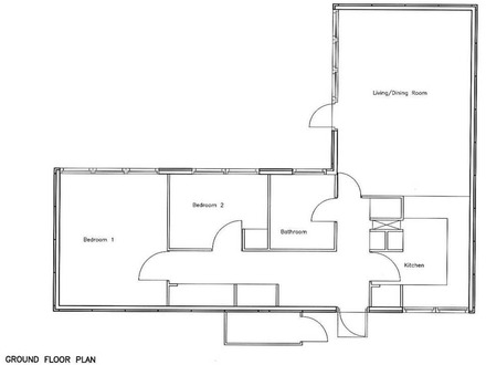 2 Bedroom Bungalow Floor Plan House Plans 2 Bedroom Flat