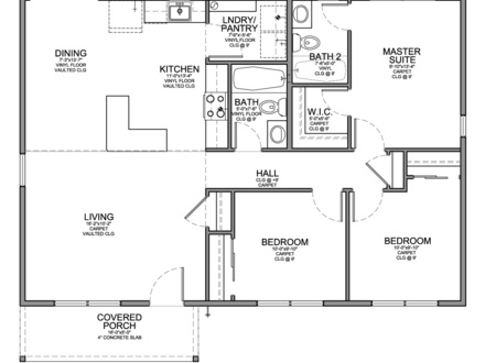 2 Bedroom House Plans Small 3 Bedroom House Floor Plans