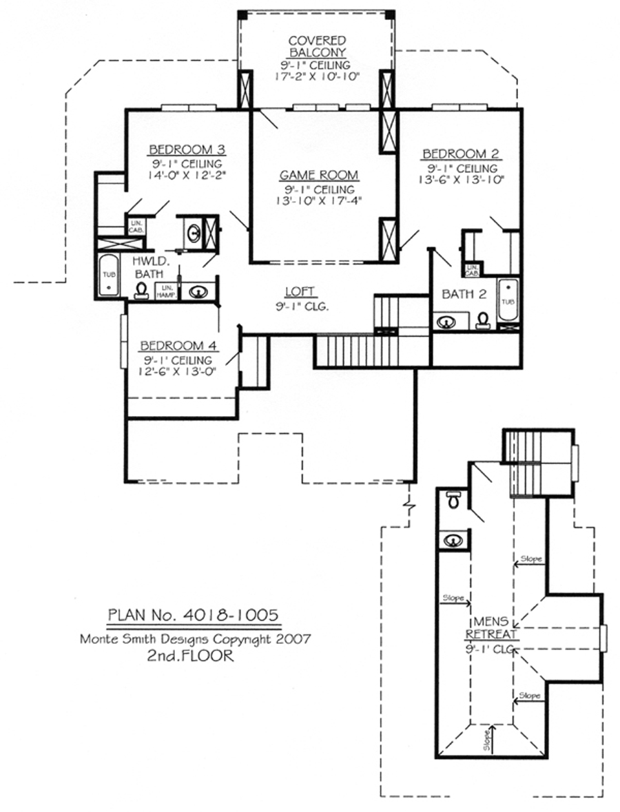 2 bedroom ranch house plans 2 bedroom house plans with for Ranch house plans with loft