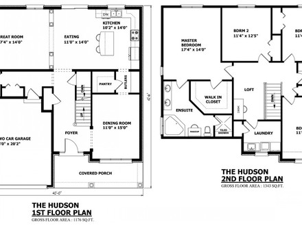 2 Floor House Plans 2 Story House Floor Plans Blueprints