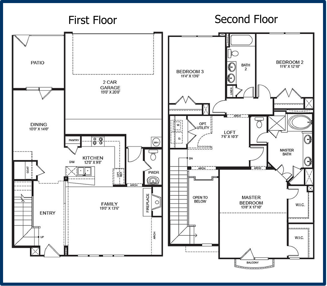 2 story condo floor plans 2 floor condo in georgetown for 1 5 story house plans with loft