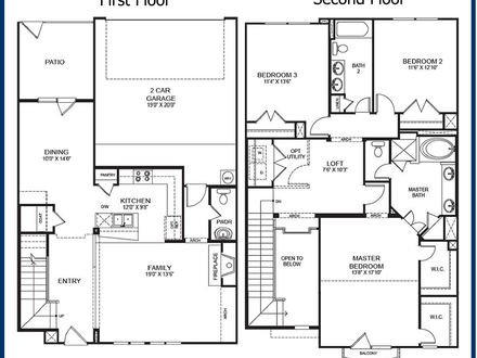Garage with apartment floor plans garage apartment for Two story condo floor plans