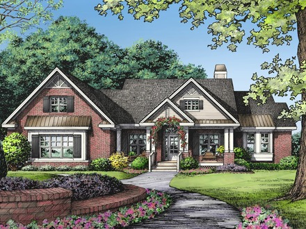 2 Story House One Story Brick Ranch House Plans