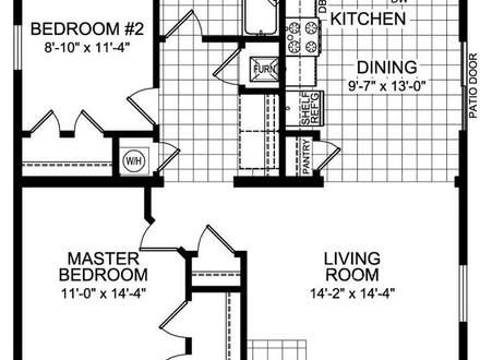 2 X 20\' Galvanized Pipe 2 Bedroom 20 X 40 Floor House Plans