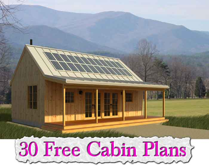 30 free cabin plans free cabin plans 16x24 small cottage for Small cabin plans 16 x 24