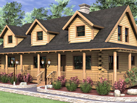 Ranch style log home plans ranch floor plans log homes for 4 bedroom log cabin homes