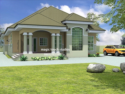 5 Bedroom Bungalow House Plan in Nigeria 5 Bedroom Bungalow in Ghana