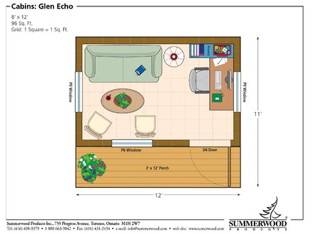 8 X 12 Cabin Floor Plan 8 X 12 House