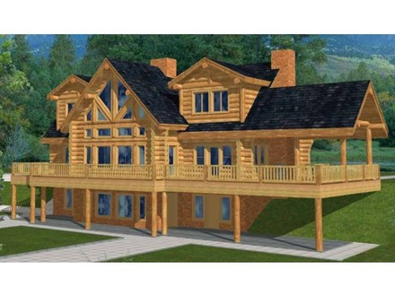Awesome Log Cabins Two Story Log Cabin House Plans