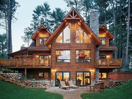 Barn Style Log Cabin Homes Log Cabin Style Home