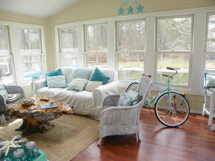 Beach Cottage Living Room Decorating Ideas Cottage Chic Living Rooms