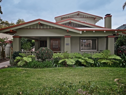 California Bungalow Style Bungalow Style House