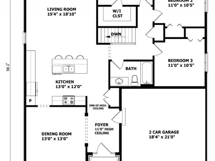 Raised bungalow house plans country bungalow house plans for Rancher house plans canada