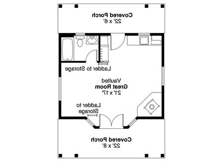 Cottage Style Guest House Cottage Guest House Floor Plans