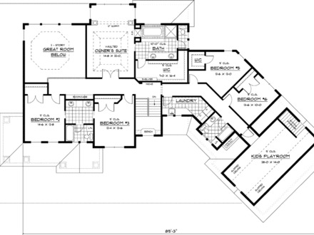 Modern craftsman floor plans craftsman open floor plans for Craftsman style homes open floor plans