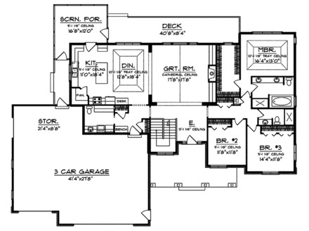 Craftsman Style House Floor Plans Craftsman Home with Tile Floors