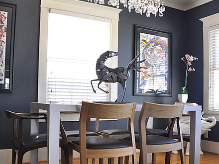 Dark Gray Dining Room Wall Color Gray Dining Room Set