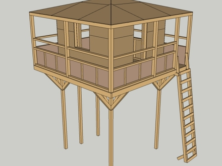 Elevated Playhouse Plans Playhouse On Stilts Plans